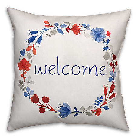 Designs Direct Welcome 18 x 18 Indoor/Outdoor Pillow 4855-AD