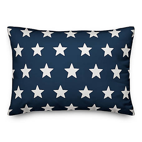 Designs Direct Rev Stars Stripes 14 x 20 in. Throw Pillow 5522-B