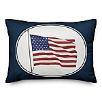Designs Direct Waving American Flag Throw Pillow, 14 x 20 in.