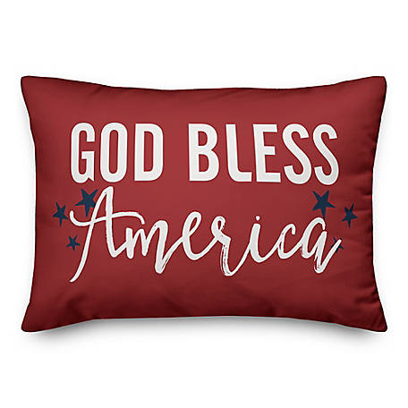 Designs Direct God Bless Script 14 x 20 in. Throw Pillow 5522-F