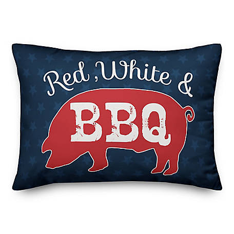 Designs Direct Red White & BBQ 14 x 20 in. Throw Pillow 5522-K