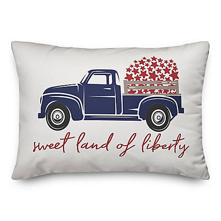 Designs Direct Liberty Vintage Truck 14 x 20 in. Throw Pillow 5522-P