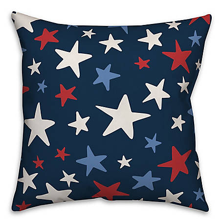 Designs Direct Red White Blue Stars Throw Pillow 18 X 18 In 5522an At Tractor Supply Co