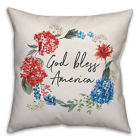 Designs Direct Fl God Bless America 18 x 18 in. Throw Pw 5524-B