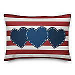 Designs Direct Star Heart & Stripes Throw Pillow, 14 x 20 in.