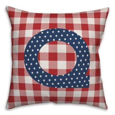 Designs Direct Check Mono Q 18 X 18 Indoor Outdoor Throw Pillow 5524 Y17 At Tractor Supply Co