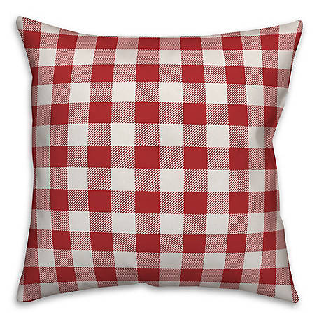 Designs Direct Check Mono Y, 18 x 18 in. Indoor/Outdoor Throw Pillow, 5524-Y25