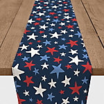 Designs Direct Patriotic Stars 16 x 72 in. Table Runner, 5524-W1