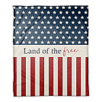 Designs Direct Land Of The Free 50 x 60 in. Throw Blanket 5524-U