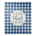 Designs Direct Land That I Love 50 x 60 in. Throw Blanket