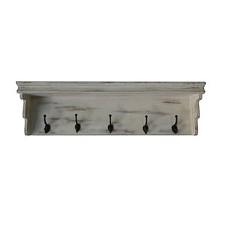 TX USA Corporation Victoria 42 in Wall Shelf with Hooks, HHU19290