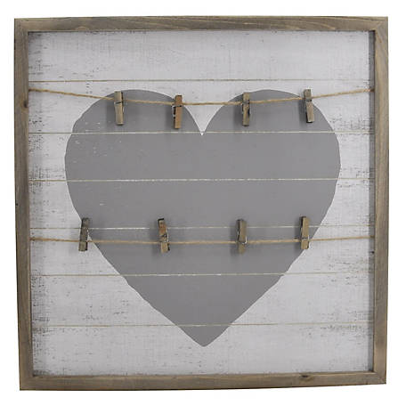 TX USA Corporation Square Framed Heart Shaped Wall Clips, TX-F0234