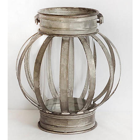 TX USA Corporation Galvanized Banded Lantern, Small, M21543S