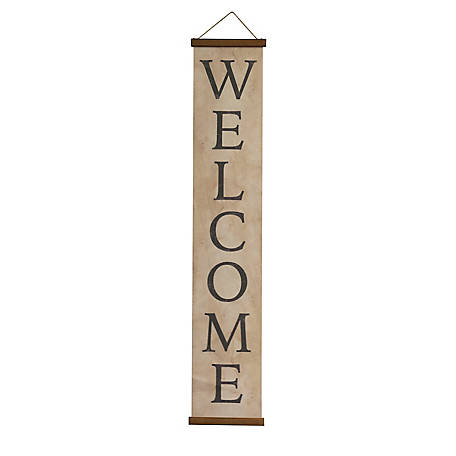 TX USA Corporation Decorative Canvas Welcome Banner M21565