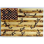 TX USA Corporation Wood Burning Flag Wall Decor Ntl M21748