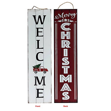 TX USA Corporation Merry Christmas Reversible Porch Sign M21749