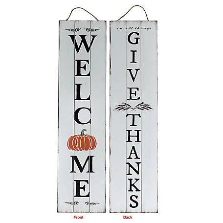 TX USA Corporation Give Thanks Reversible Porch Sign, M21751