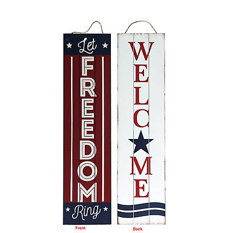 TX USA Corporation Patriotic Reversible Porch Sign, M21752