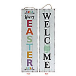 TX USA Corporation Welcome Easter Reversible Porch Sign M21753