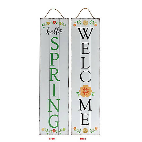 TX USA Corporation Welcome Spring Reversible Porch Sign, M21754