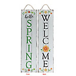 TX USA Corporation Welcome Spring Reversible Porch Sign M21754