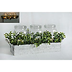 TX USA Corporation LED Metal Box With Greenery M21449
