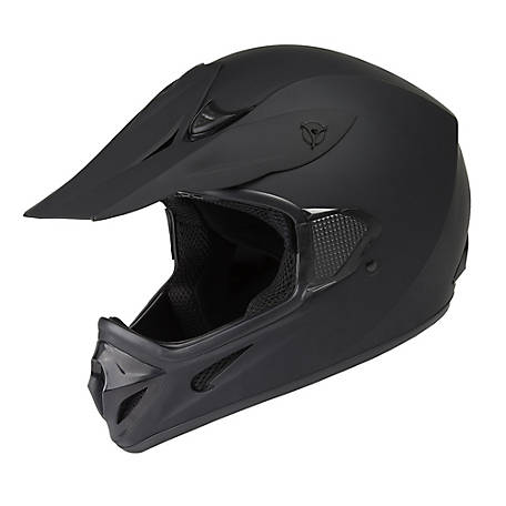 Raider RX1 Adult Mx Helmet, Matte Black, L, 2120615
