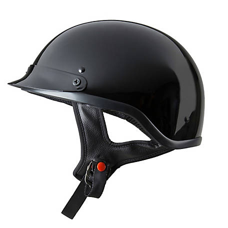 Raider Half Helmet, Gloss Black, M, 26-619GB-14