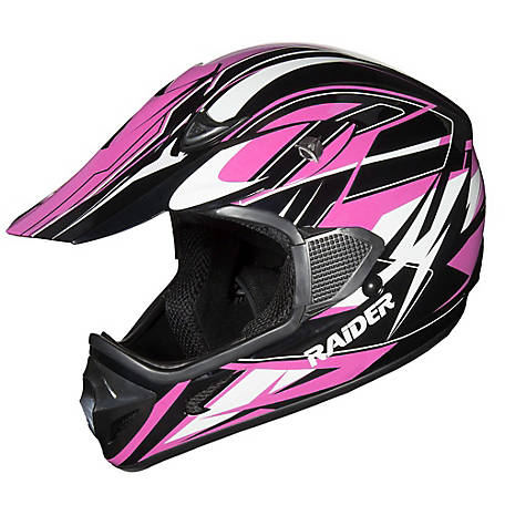 Raider RX1 Adult MX Helmet, Pink/Black, L, 2121315