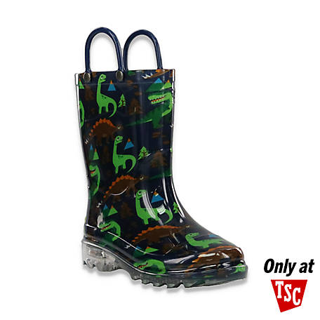 Western Chief Boys' Boy's Wck Rugged Dino Light Up N TSC24121058P