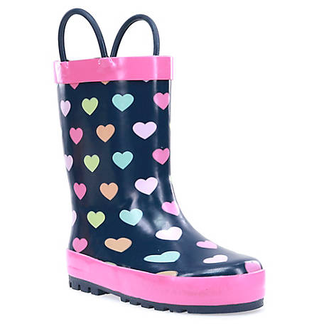 Western Chief Girls' Dot Heart Party Rubber Boot