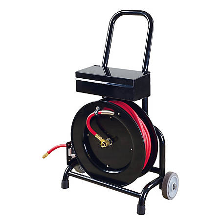 Shop Tuff Hose Reel Cart with Tool Box, STF-3850FHTB