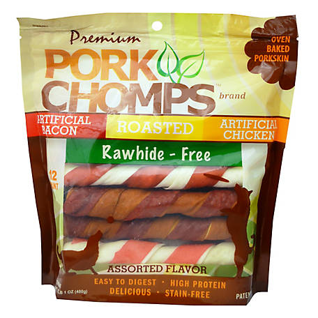 Pork Chomps Assorted Twistz, 12 ct., 8977793