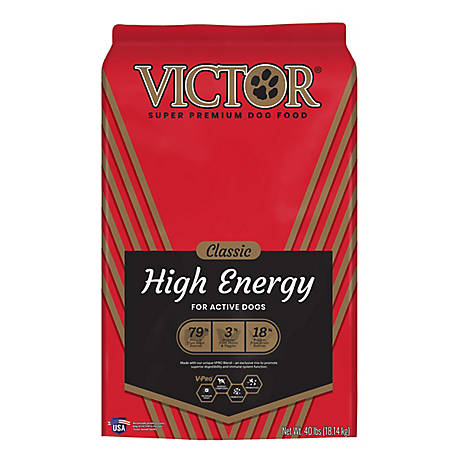 Victor Classic Hi-Energy Dry Dog Food, 40 lb.