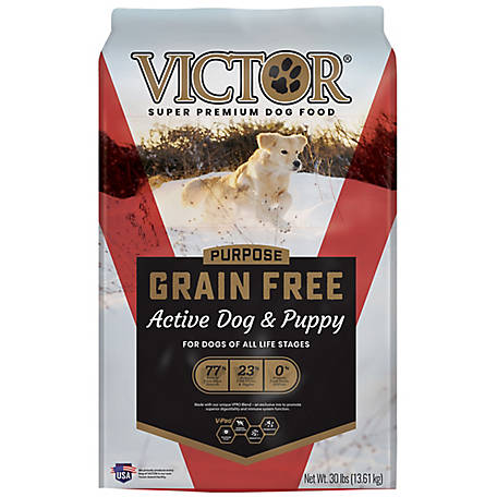 Victor Purpose Grain Free Active Dry Dog Food, 30 lb.