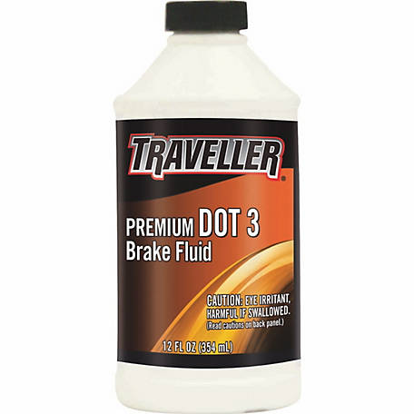 Traveller DOT 3 Brake Fluid, 12 fl. oz.