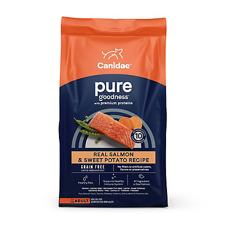 CANIDAE Grain Free PURE Real Salmon Premium Dry Dog Food, 24 lb., 1340