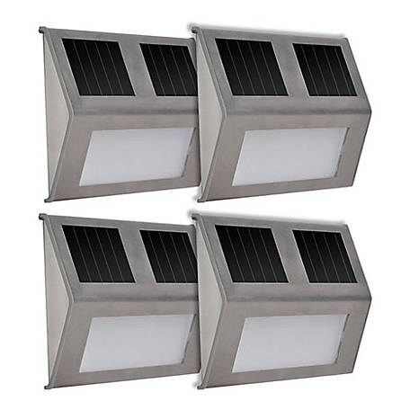 Sunforce Solar Step Lights, 4 Pack, 84529