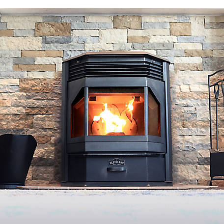Cleveland Iron Works Bay Front Pellet Stove 65 lb. Hopper F500210