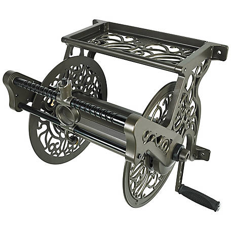 Liberty Garden Decorative Wall Mount Hose Reel With Hose Guide, 707