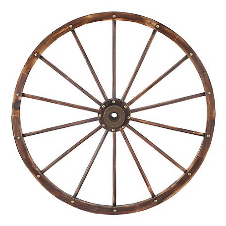 Red Shed 41.5 in. Decorative Wagon Wheel