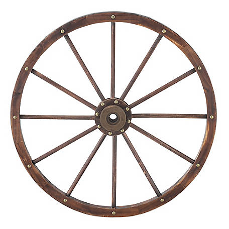 Red Shed 35 in. Decorative Wagon Wheel