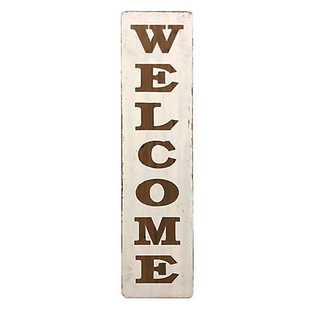 Red Shed Tall Wood Rustic Welcome Sign