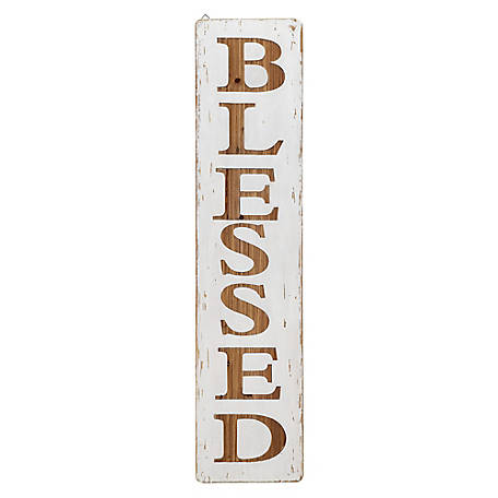 Red Shed Tall White Blessed Sign