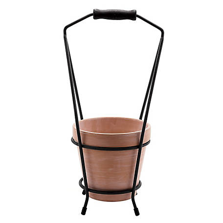 Red Shed Terracotta Flowerpot with Metal Stand