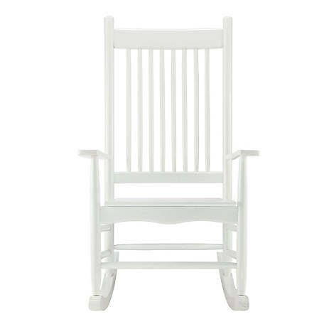 Red Shed Wood Heirloom Rocker, White, YQ-065A-1