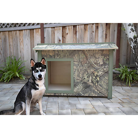 Mossy Oak New Age Pet, Mossy Oak ThermoCore Insulated Dog House, ECOH706XL