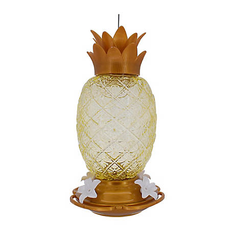 Royal Wing Gold Glass Pineapple Hummingbird Feed, HB-0451G2