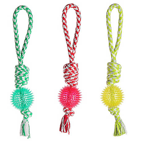 Retriever Rope with TPR Ball Dog Toy, MSDT121-1