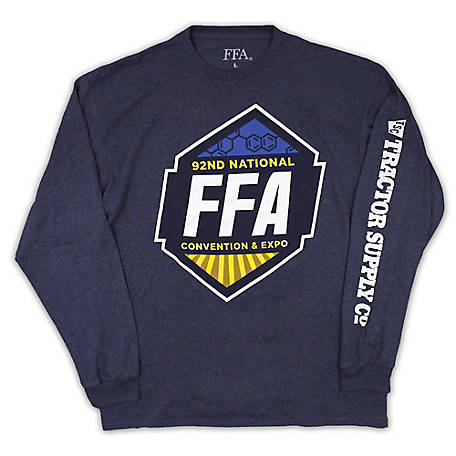 Tee Shirt Central Men's FFA 2019 Long Sleeve Graphic Tee, TSC0974